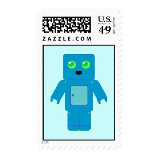 Sellos azules lindos del robot