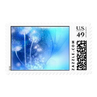 sellos azules mágicos de los dientes de león