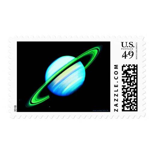Sellos azules y verdes de Saturn