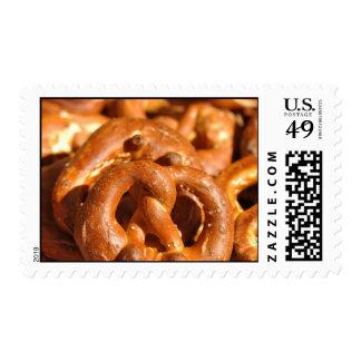 Sellos bávaros del fondo de los pretzeles