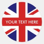 Sellos británicos redondos del sobre de los pegatina redonda