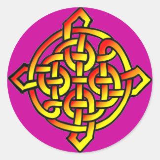 Sellos célticos pegatina redonda