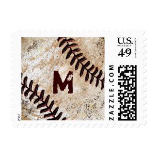 Sellos CONES MONOGRAMA del béisbol para los
