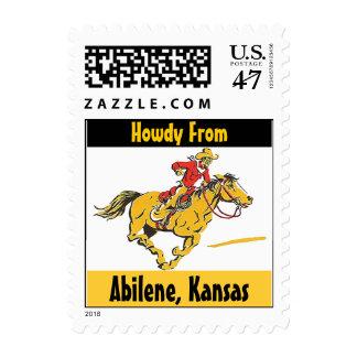 Sellos de Abilene Kansas del potro del vaquero y d