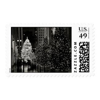 Sellos de centro del árbol de navidad de Rockefell
