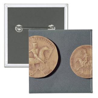Sellos de Charles I de Anjou Pin Cuadrada 5 Cm