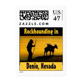 Sellos de Denio Nevada del perro de roca de