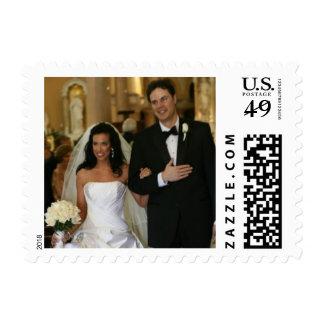 Sellos de encargo de la foto del boda