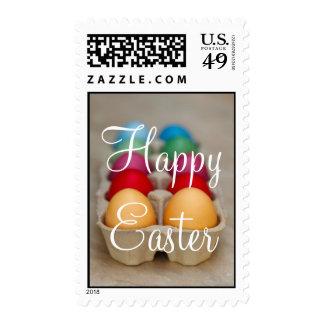 Sellos de encargo de los huevos decorativos felice