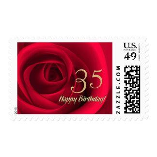 Sellos de encargo del 35to cumpleaños feliz