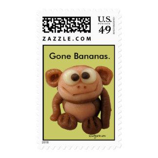 Sellos de encargo del mono del dibujo animado