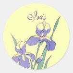 Sellos de encargo personalizados iris redondo del pegatina redonda