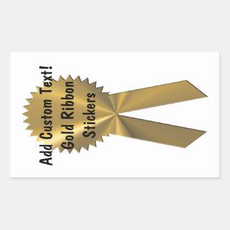 Sellos de encargo y pegatinas de la cinta del oro