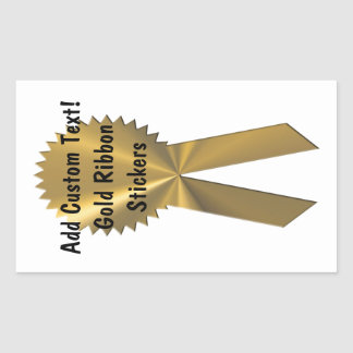 Sellos de encargo y pegatinas de la cinta del oro pegatina rectangular