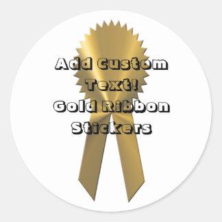 Sellos de encargo y pegatinas de la cinta del oro pegatina redonda