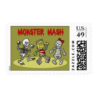 Sellos de Halloween del puré del monstruo