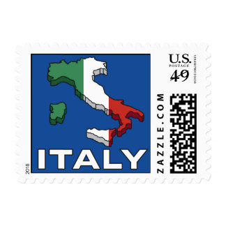 Sellos de Italia del viaje del vintage