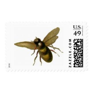 Sellos de la abeja del vuelo