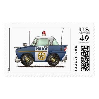 Sellos de la aplicación de ley del coche policía