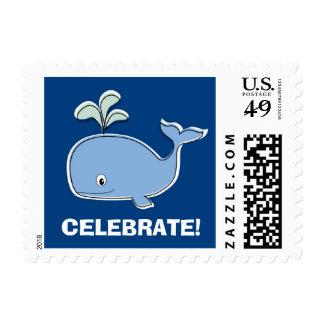 Sellos de la ballena azul