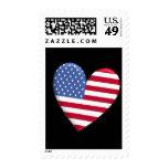 Sellos de la bandera del corazón de Estados Unidos