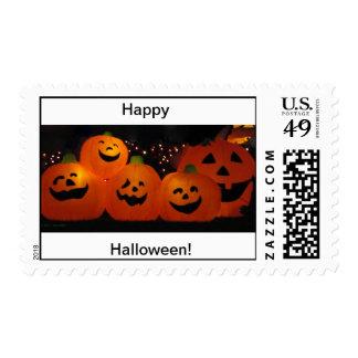 Sellos de la calabaza del feliz Halloween