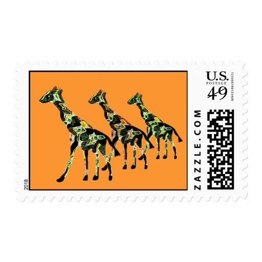 Sellos de la familia de la jirafa