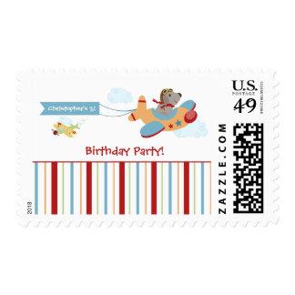 Sellos de la fiesta del cumpleaños del muchacho de