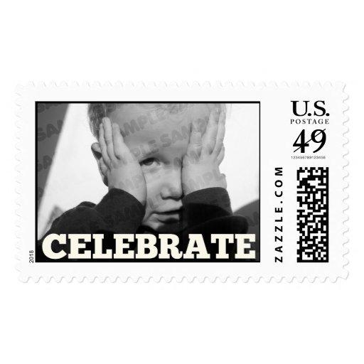 Sellos de la foto de la fiesta de cumpleaños del m