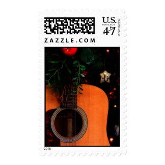 Sellos de la guitarra acústica del navidad