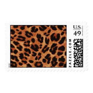 Sellos de la impresión del guepardo