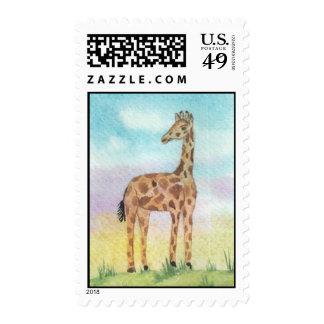 Sellos de la jirafa del bebé