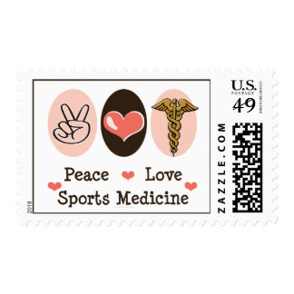 Sellos de la medicina de deportes del amor de la p