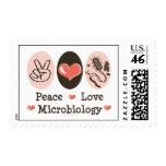 Sellos de la microbiología del amor de la paz