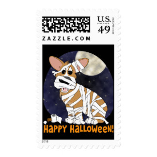 Sellos de la momia del Corgi de Halloween