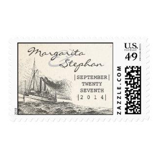 sellos de la nave del vintage