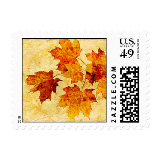 sellos de la ocasión de la caída de las hojas del