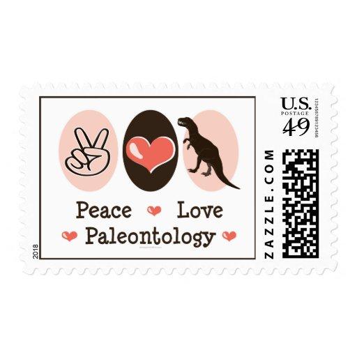 Sellos de la paleontología del amor de la paz