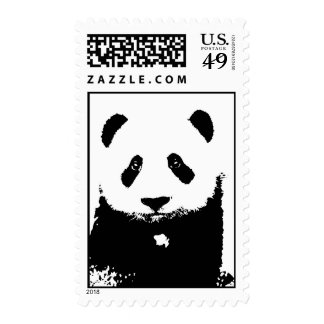 Sellos de la panda del arte pop