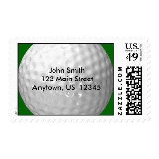 Sellos de la pelota de golf de la etiqueta de dire