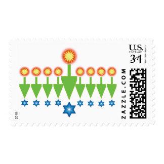 Sellos de la postal de Chrismukkah del navidad de