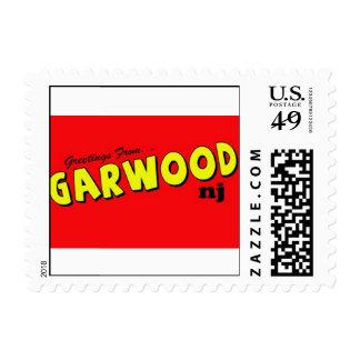 Sellos de la postal de Garwood NJ
