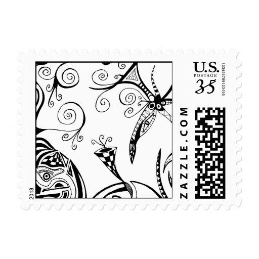 Sellos de la postal de Neverland