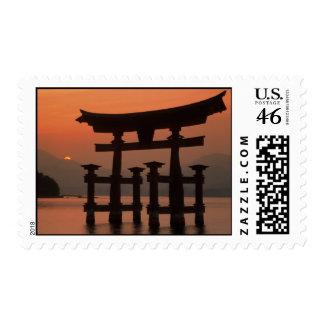 Sellos de la puesta del sol de Japón