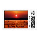 Sellos de la puesta del sol de Lanier del lago