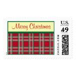 Sellos de la tela escocesa de las Felices Navidad