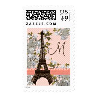 Sellos de la torre Eiffel del monograma