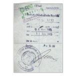 Sellos de la visa y de la entrada de la Alemania O Tarjeton