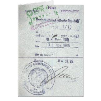 Sellos de la visa y de la entrada de la Alemania O Tarjeta De Felicitación