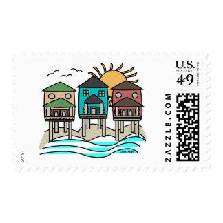 Sellos de las casas de playa